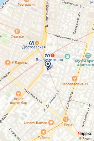 ФИЛИАЛ В СПБ АУДИТОРСКАЯ КОМПАНИЯ РОСЭКСПЕРТИЗА на карте Санкт-Петербурга