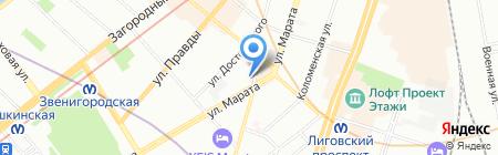 Барбария на карте Санкт-Петербурга