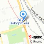 Магазин по продаже овощей и фруктов на карте Санкт-Петербурга