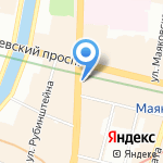 Radisson Royal на карте Санкт-Петербурга