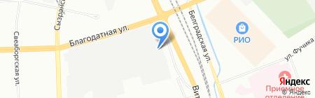 ДСВ Роуд на карте Санкт-Петербурга