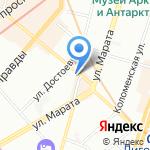 Экспресс на карте Санкт-Петербурга