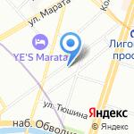 Unlost на карте Санкт-Петербурга