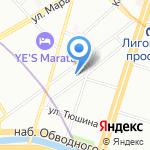 АДЛЕКС на карте Санкт-Петербурга