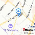 Квазиграфика на карте Санкт-Петербурга