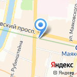 Интербридж на карте Санкт-Петербурга