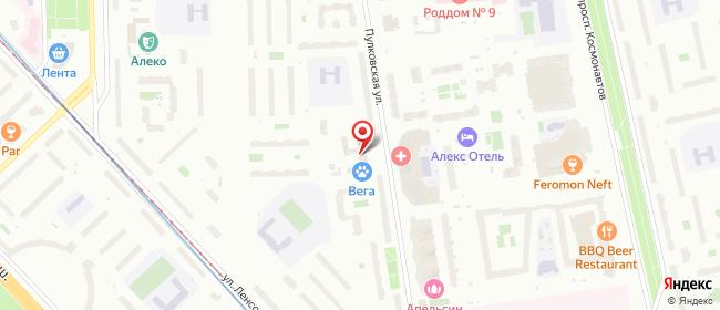 Карта расположения пункта доставки Санкт-Петербург Пулковская в городе Санкт-Петербург