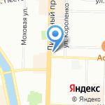 СВ на карте Санкт-Петербурга