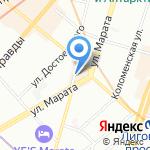 Галерея Эго на карте Санкт-Петербурга