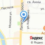 СнарЯжение на карте Санкт-Петербурга