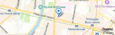 Удачный тур на карте Санкт-Петербурга