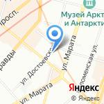 Красотка на карте Санкт-Петербурга