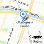 Строка на карте Санкт-Петербурга