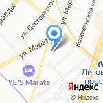 Элькор на карте Санкт-Петербурга