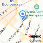 Балтийские химчистки и прачечные на карте Санкт-Петербурга