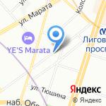 Глоби на карте Санкт-Петербурга