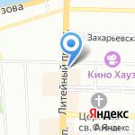 Палермо на карте Санкт-Петербурга