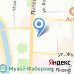 Магазин стройтоваров на карте Санкт-Петербурга