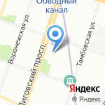 Metro Club на карте Санкт-Петербурга