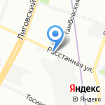 Управление МВД России по Фрунзенскому району на карте Санкт-Петербурга