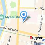 Норден на карте Санкт-Петербурга