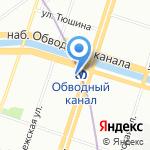 БАЛТ-ЛОТО на карте Санкт-Петербурга