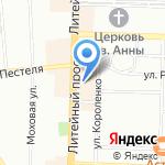 ВТБ Страхование на карте Санкт-Петербурга