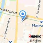 Уста к устам на карте Санкт-Петербурга