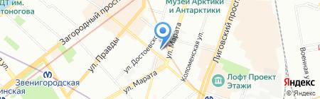 Bed 2 Bed на карте Санкт-Петербурга