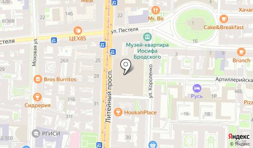 Elite club Татьяны Забалуевой. Схема проезда в Санкт-Петербурге