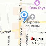 Расцвет на карте Санкт-Петербурга