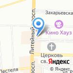 Окунь на карте Санкт-Петербурга