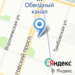 Живана на карте Санкт-Петербурга