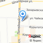 Р-78 на карте Санкт-Петербурга