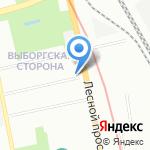 Управление МВД России по Выборгскому району на карте Санкт-Петербурга
