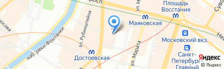 Экспедиция на карте Санкт-Петербурга