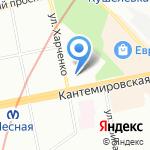 Средняя общеобразовательная школа №104 им. М.С. Харченко на карте Санкт-Петербурга