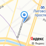 Мир на карте Санкт-Петербурга