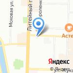 Нотариус Леонтьев Е.В. на карте Санкт-Петербурга