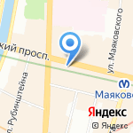 Ультраклиника на карте Санкт-Петербурга