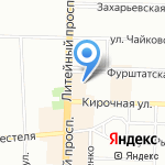 Одеон на карте Санкт-Петербурга