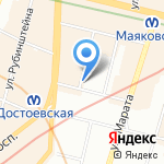 Интер-Лайн на карте Санкт-Петербурга