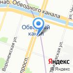 Санкт-Петербургский детский ледовый театр на карте Санкт-Петербурга