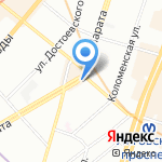 Заубер банк на карте Санкт-Петербурга