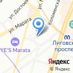 Корвет СПб на карте Санкт-Петербурга