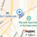 Кузнечик на карте Санкт-Петербурга