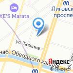 БалерБалтика на карте Санкт-Петербурга