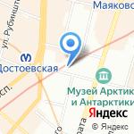 Бюро путешествий на карте Санкт-Петербурга