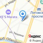 Андрин на карте Санкт-Петербурга