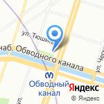 Студия дизайна интерьера Натальи Чащиной на карте Санкт-Петербурга